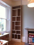 Large Shelving Unit in Play Room