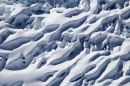 Crevasses, Franz Josef Glacier, West Coast, South Island, New Zealand - aerial