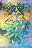 Christmas Tree Blue and Yellow