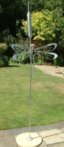dragonfly on Stainless Steel Bulrush