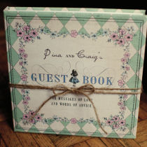 ALICE IN  WONDERLAND PERSONALISED GUEST BOOK