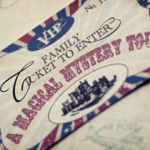Airmail Castle Tour Ticket-Airmail Castle Tour Ticket