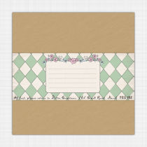 Alice in Wonderland Envelope Address Label Envelop