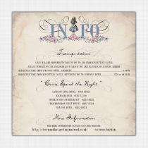 Alice in Wonderland Information Cards