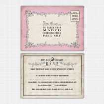 Alice in Wonderland Rsvp Reply Card