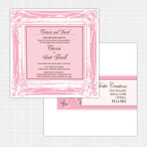 Butterfly Flat Card Invitation