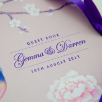 CHINOISERIE Guest Book Pink-2 1