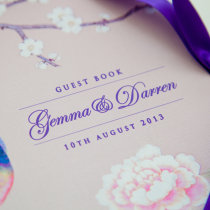 CHINOISERIE Guest Book Pink-3 1
