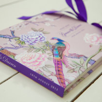 CHINOISERIE Guest Book Pink-5