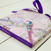 CHINOISERIE Guest Book Pink-6 1