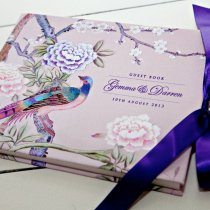 CHINOISERIE Guest Book Pink-8 1