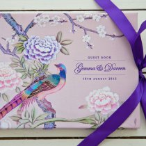 CHINOISERIE Guest Book Pink