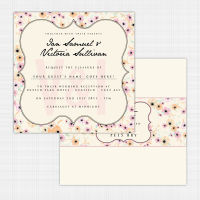 Candy Cloud Flat Card Invitation
