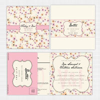 Candy Cloud Folded Card with RSVP Invitation
