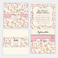 Candy Cloud Pocket Wallet Invitation
