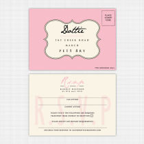 Candy Cloud Rsvp Reply Card