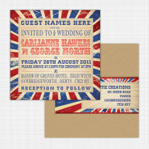 Carnival Flat Card Invitation