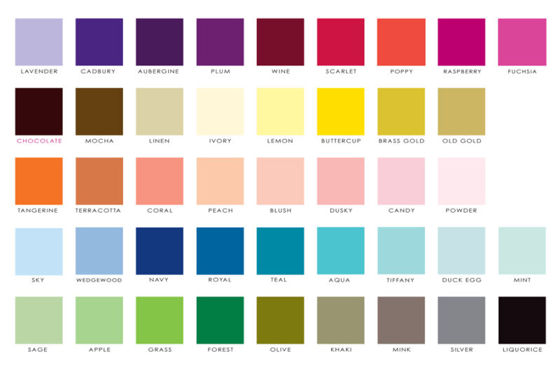 DOTTIE COLOUR CHART
