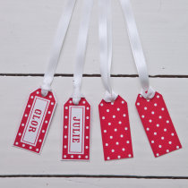 DOTTIE Luggage Tags Scarlet