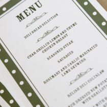 DOTTY MENU FLAT CARD A