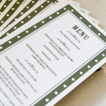 DOTTY MENU FLAT CARD B