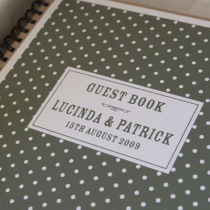DOTTY PERSONALISED PHOTO GUEST BOOK
