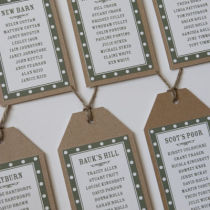 DOTTY TABLE SEATING PLAN A