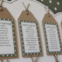 DOTTY TABLE SEATING PLAN D