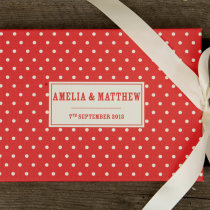 DOTTY guest book red A