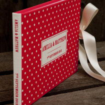 DOTTY guest book red C