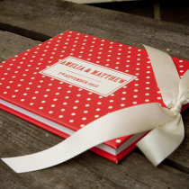 DOTTY guest book red D