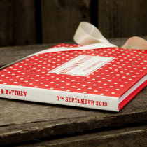 DOTTY guest book red E