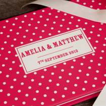 DOTTY guest book red F