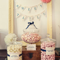 Dahlia Candy Bar Bunting Sign