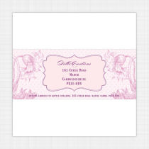 Dahlia Envelope Address Label
