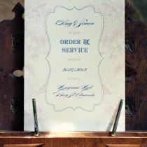 Dahlia Order of Service Boklet B