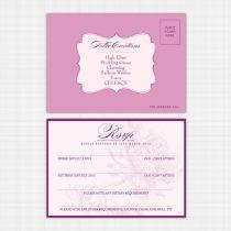 Dahlia RSVP Card