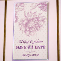 Dahlia Save the Date A