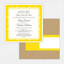 Daisy Flat Card Invitation
