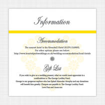 Daisy Information Cards