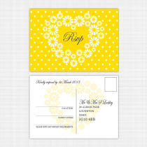 Daisy RSVP Reply Card