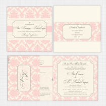 Darcy Folded Card with RSVP Invitation