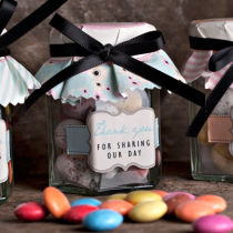 Dottie Candy Cloud Sweety Jar Placesetting Favours C