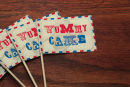 Dottie Seaside Funfair Cake Flag A