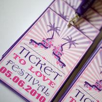 Dottie Ticket to Love Music Festival Wedding Programme B