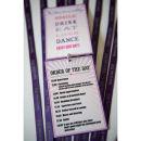 Dottie Ticket to Love Music Festival Wedding Programme G