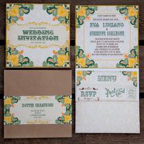 Dottie Tutti Fruiti Lemon Wallet Invitation A
