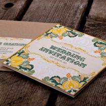 Dottie Tutti Fruiti Lemon Wallet Invitation J
