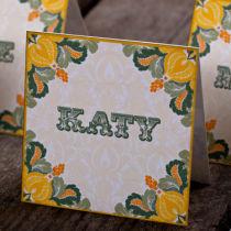 Dottie Tutti Fruiti Lemon Wallet Invitation K