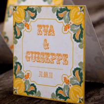Dottie Tutti Fruiti Lemon Wallet Invitation L